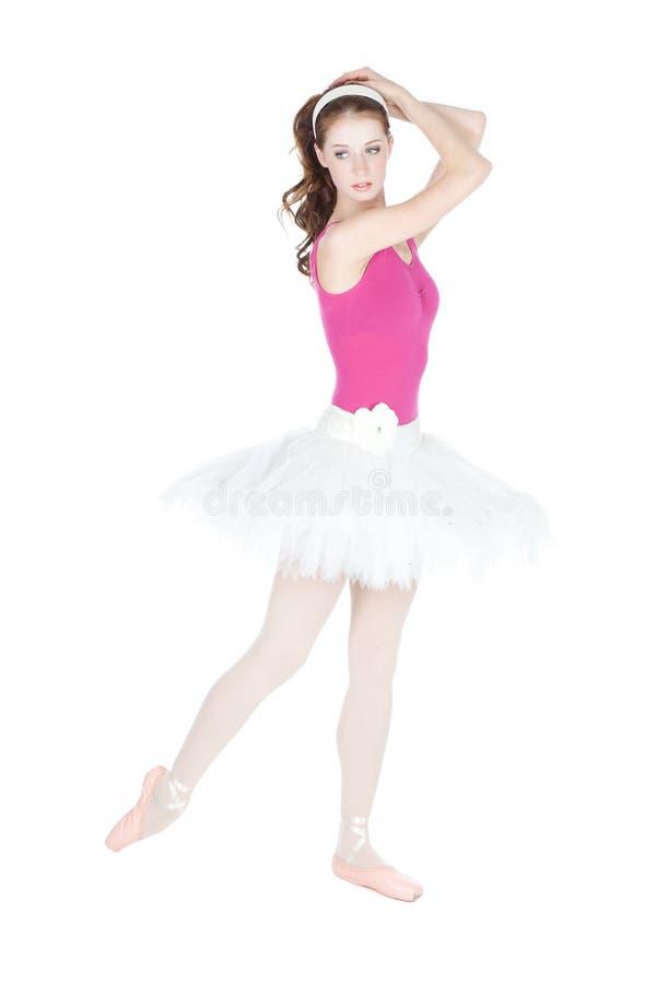 Het jonge mooie danser stellen op een studio royalty-vrije stock afbeeldingen
