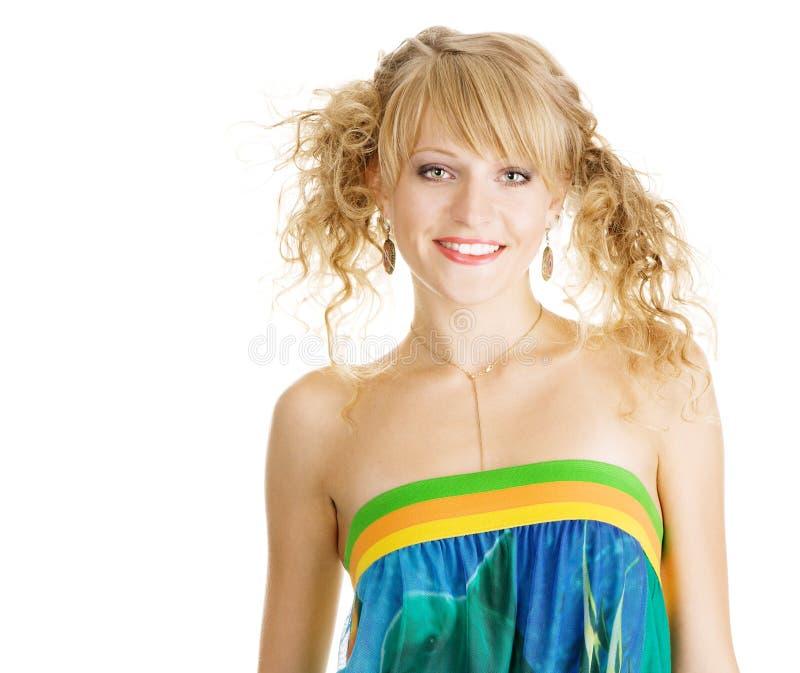Download Het Jonge Mooie Portret Van De Meisjesstudio Stock Foto - Afbeelding bestaande uit helder, levensstijl: 10775638
