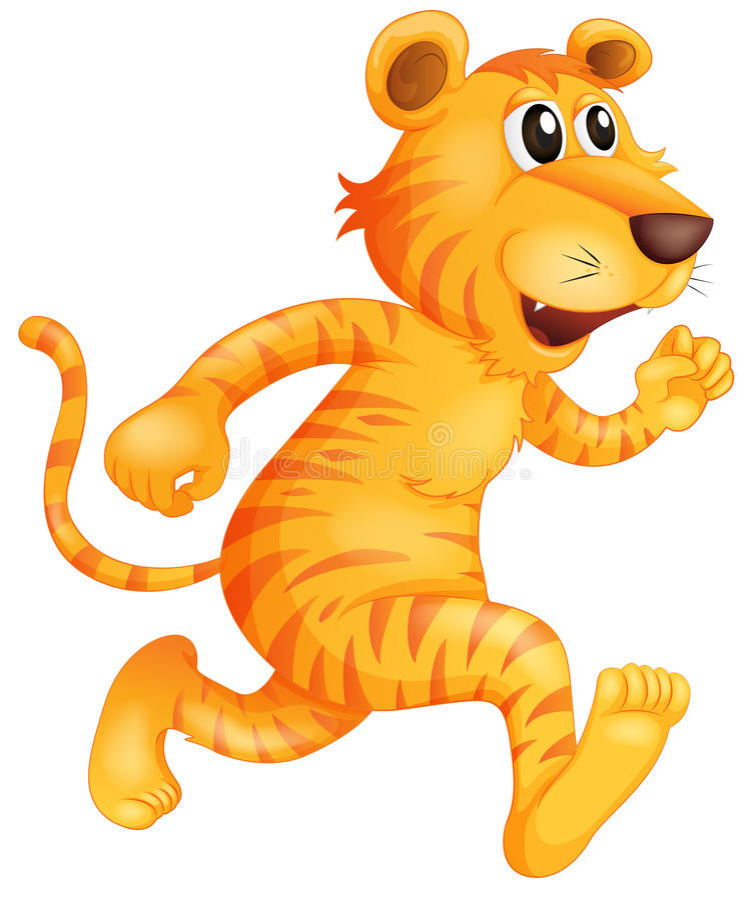 Het jonge tijger lopen vector illustratie