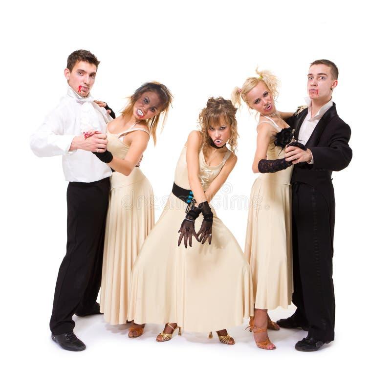 Het jonge vampieren dansen stock foto
