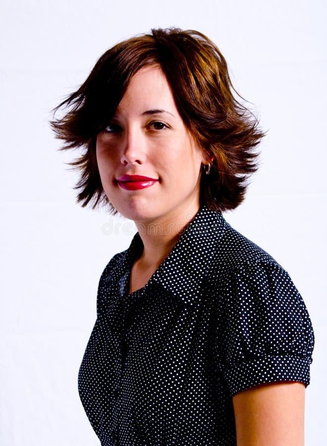 Het jonge Volwassen Portret van de Vrouw royalty-vrije stock afbeelding