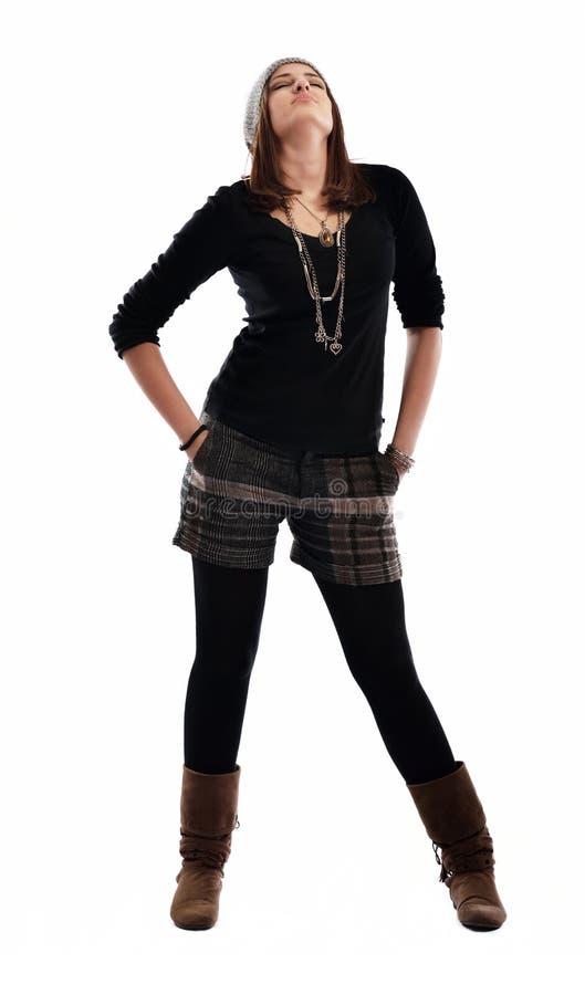 Het jonge vrouw dansen stock afbeeldingen