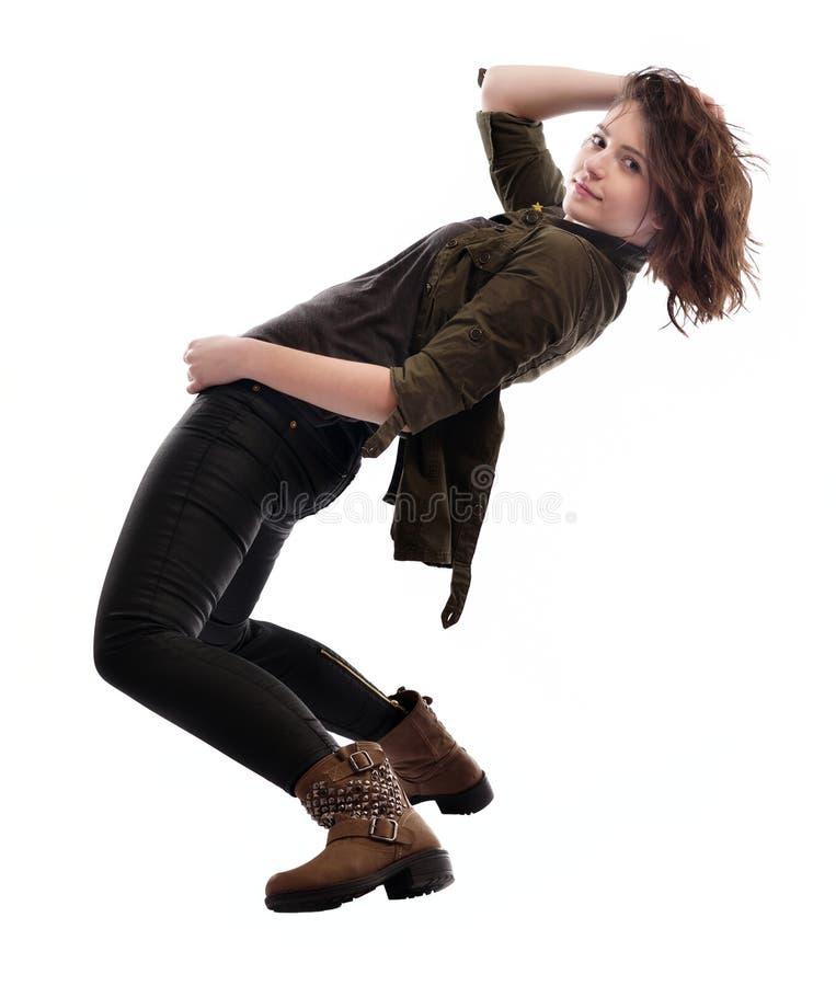 Het jonge vrouw dansen royalty-vrije stock foto's