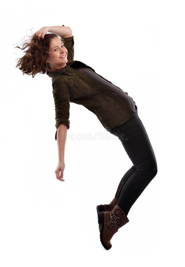 Het jonge vrouw dansen royalty-vrije stock fotografie