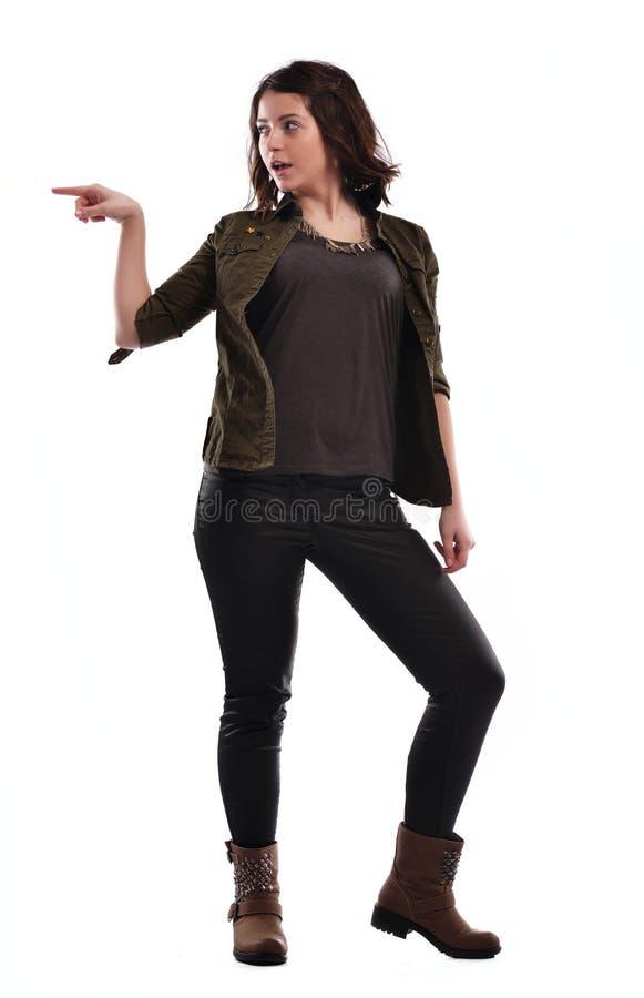 Het jonge vrouw dansen royalty-vrije stock foto