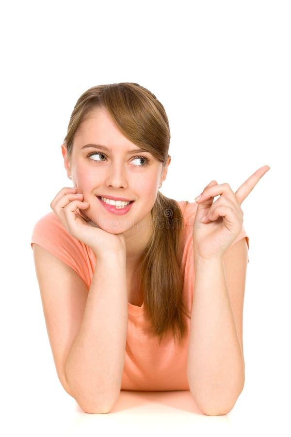 Het jonge vrouw richten stock afbeeldingen