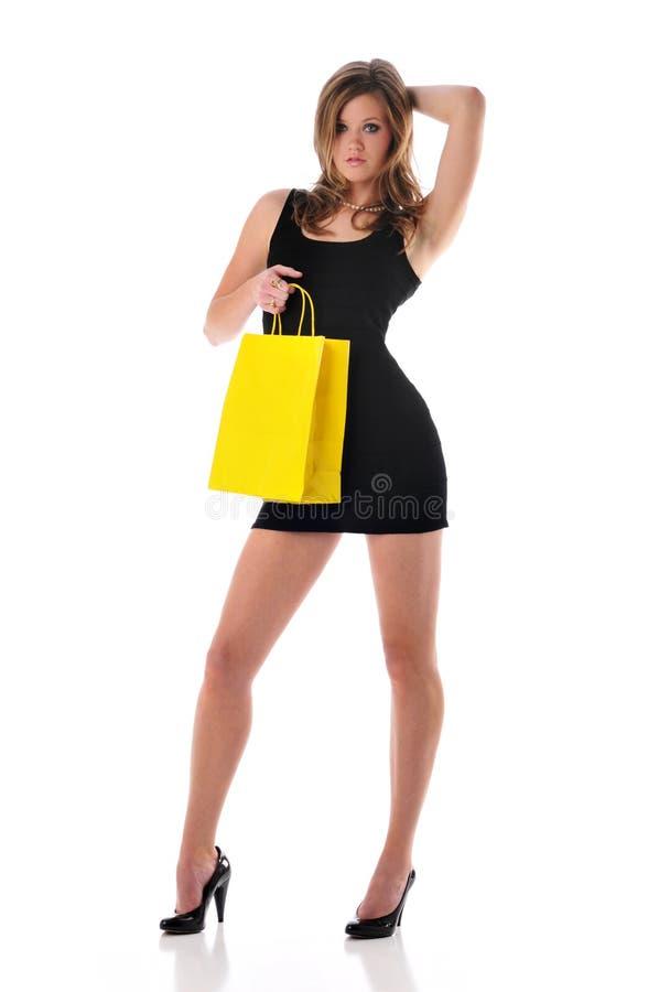 Het jonge woma winkelen stock fotografie
