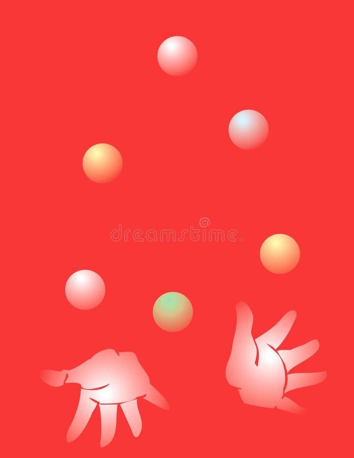 Het jongleren met vector illustratie