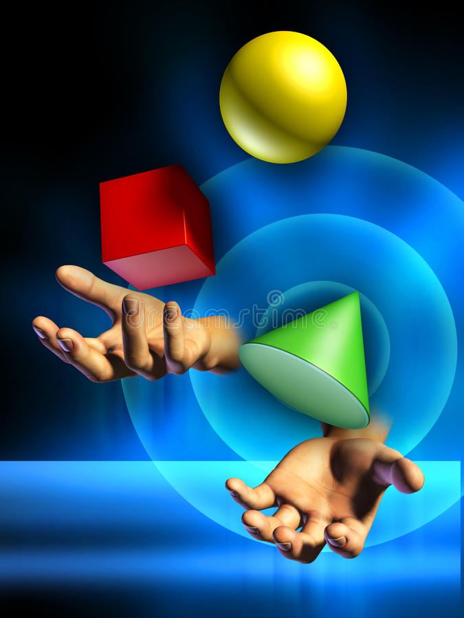 Het jongleren met royalty-vrije illustratie