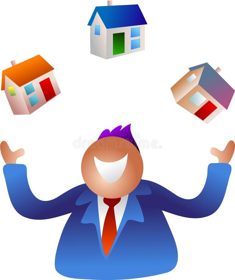 Het jongleren met huizen vector illustratie