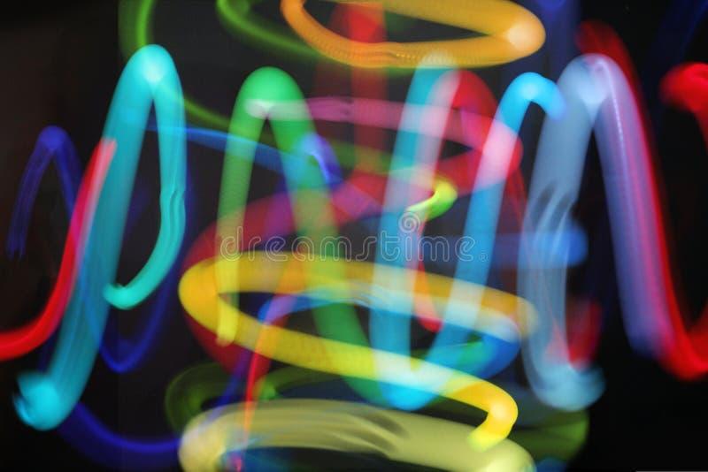 Het jongleren met lichten stock fotografie