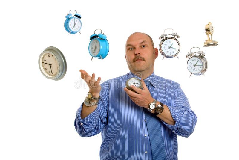 Het jongleren met tijd royalty-vrije stock afbeelding