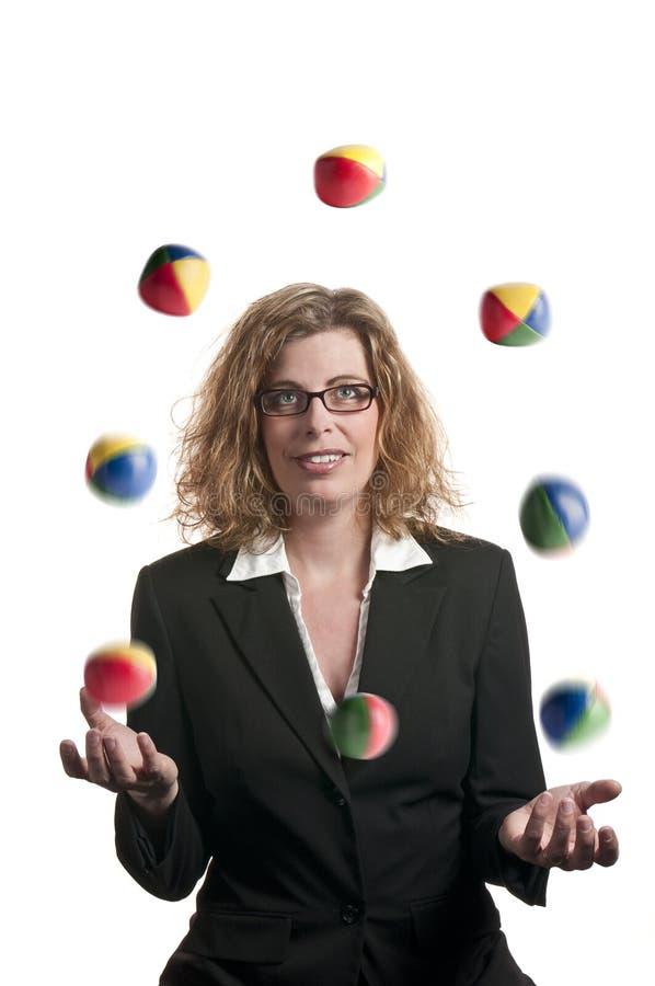 Het jongleren met van de onderneemster royalty-vrije stock foto