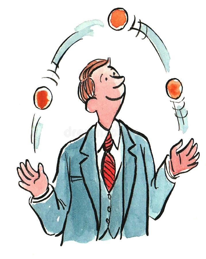 Het jongleren van met Vele Ballen vector illustratie