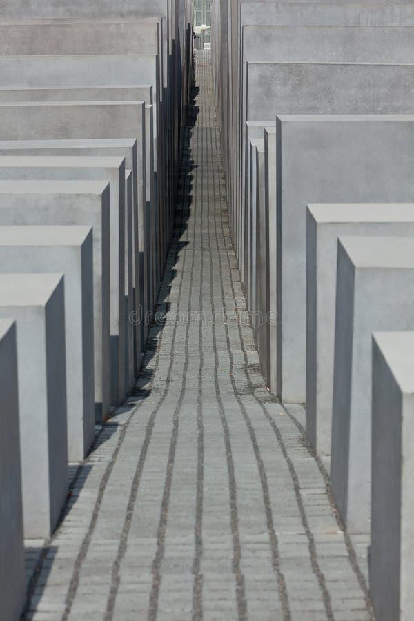 Het Joodse Gedenkteken van de Holocaust, Berlijn Duitsland royalty-vrije stock foto's
