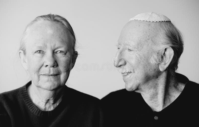 Het Joodse Paar van Eldery stock foto