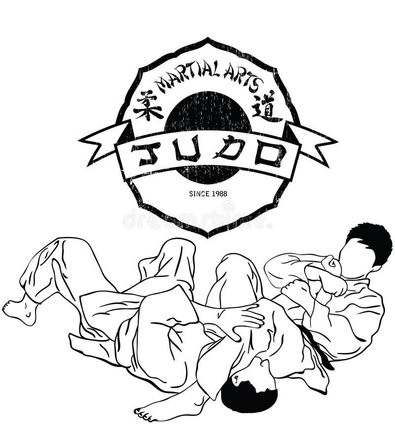 Het judo van vechtsporten royalty-vrije stock afbeeldingen
