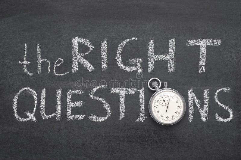 Het juiste vragenhorloge royalty-vrije stock afbeelding
