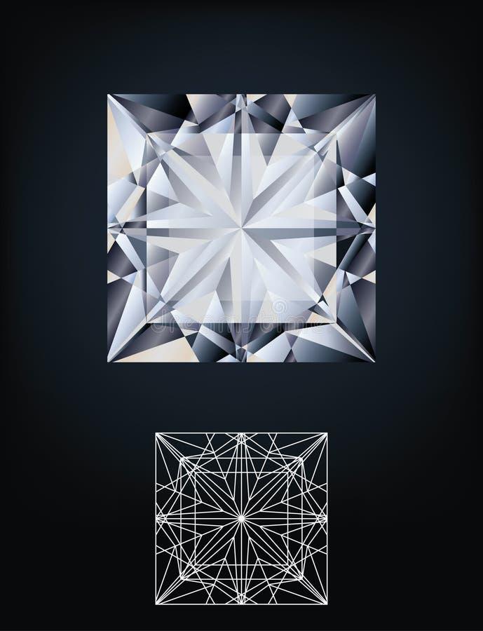 Het juweel van de diamantprinses stock illustratie