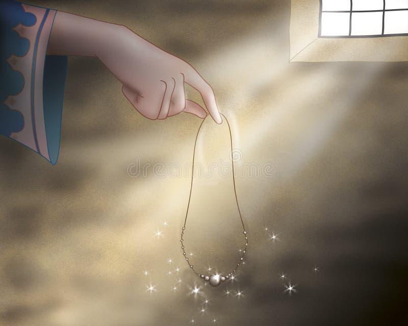 Het juweel van de prinses - Sprookjes royalty-vrije illustratie