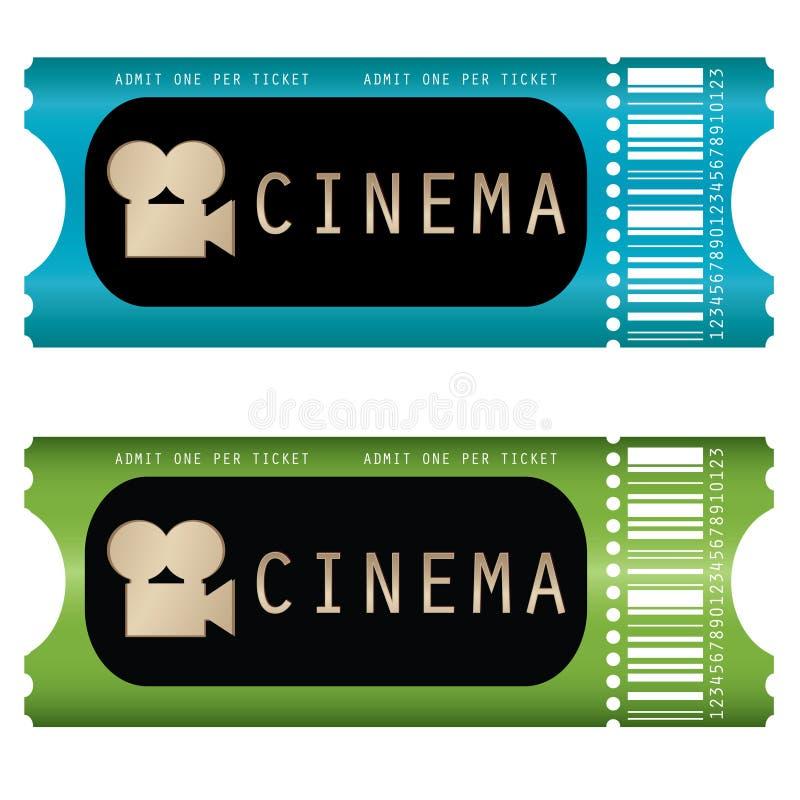 Het kaartje van de film stock illustratie
