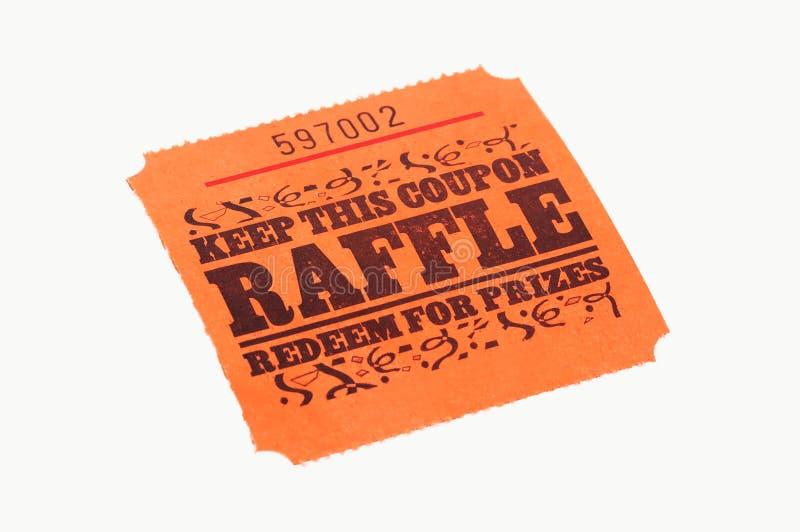 Het Kaartje van de loterij stock afbeelding