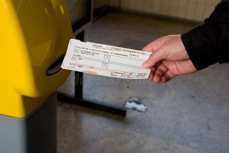 Het kaartje van de trein royalty-vrije stock afbeelding