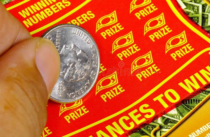 Het Kaartje van het lotto stock afbeelding