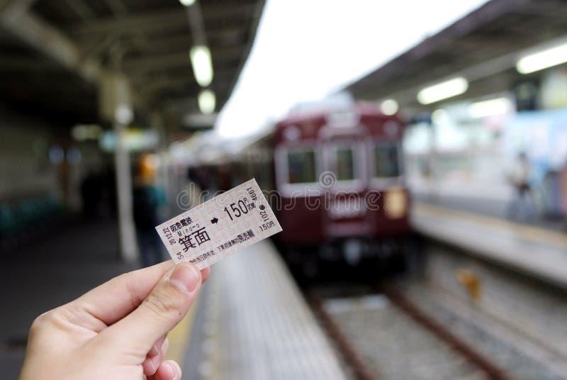 Het kaartje van het spoor royalty-vrije stock foto's