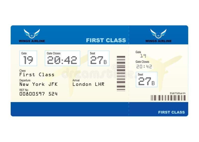 Het kaartje van het vliegtuig stock foto's