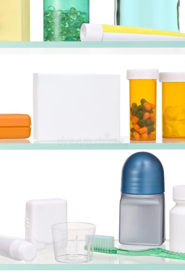 Het kabinet van de geneeskunde stock afbeeldingen