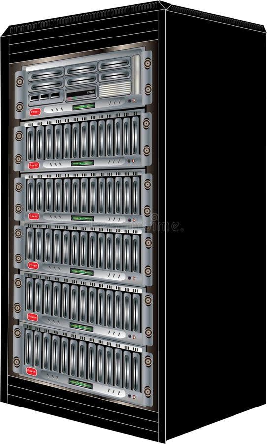 Het Kabinet van de Server van de computer royalty-vrije illustratie