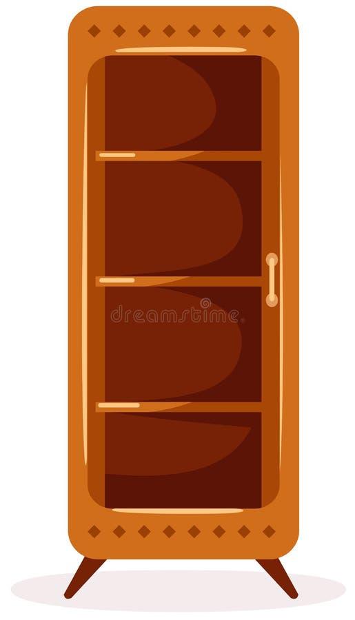 Het kabinet van de vertoning stock illustratie