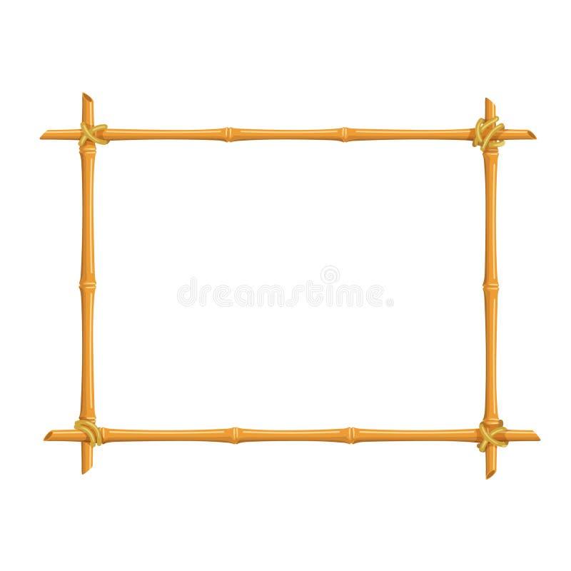Het kader van het bamboeuithangbord vector illustratie