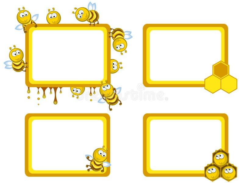 Het kader van bijen stock illustratie