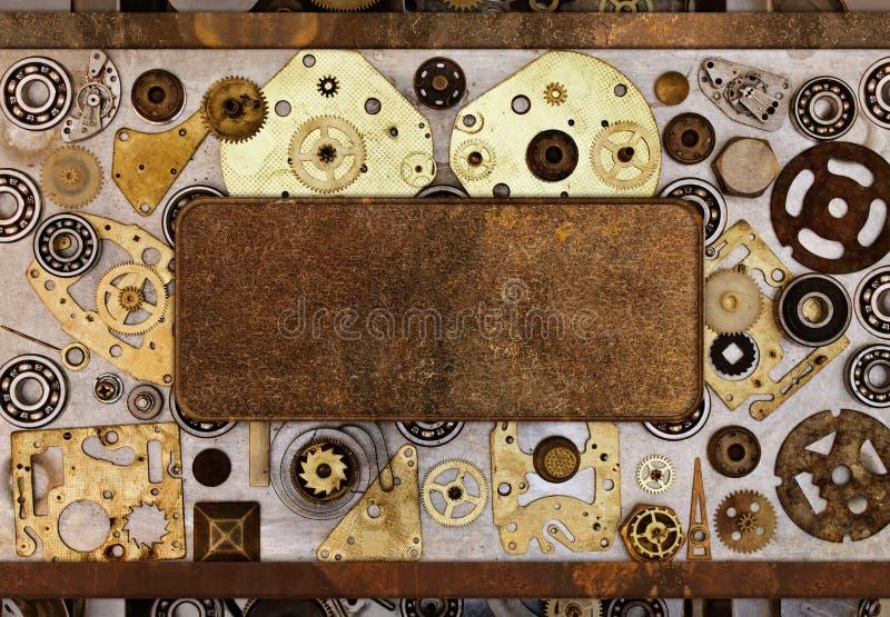 Het kader van de delen van de oude mechanismen royalty-vrije stock foto's