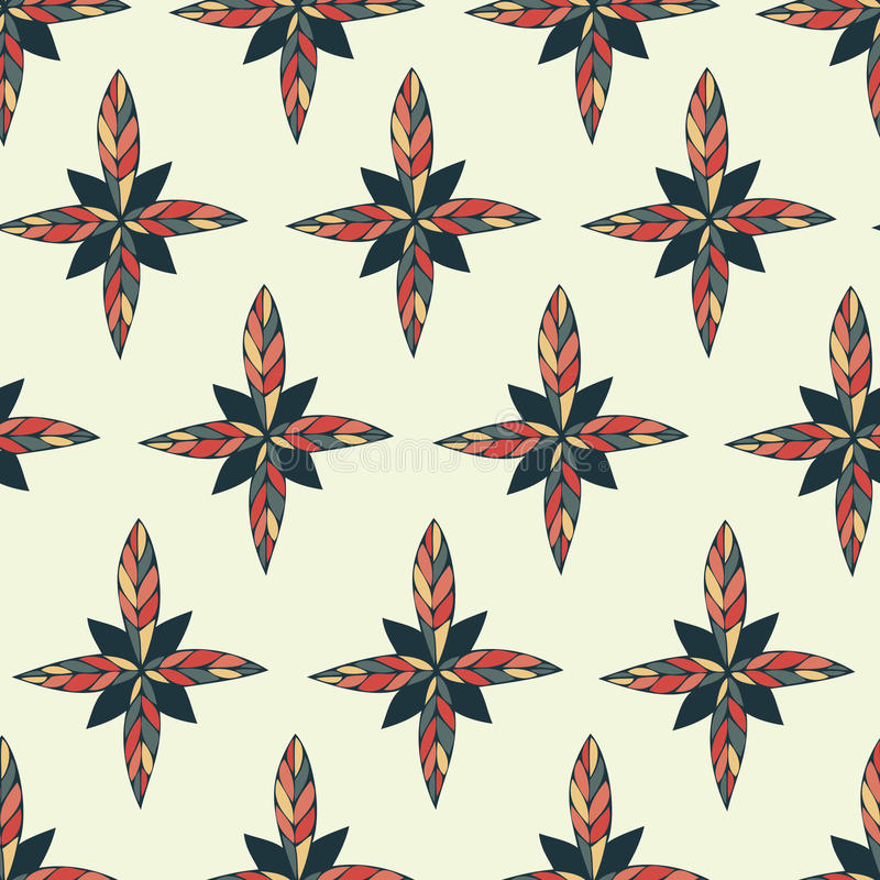 Het kader van de handverf van bloemen in vector wordt gemaakt die stock illustratie