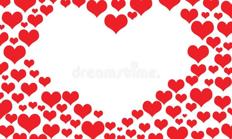 Het kader van de hartengrens royalty-vrije illustratie
