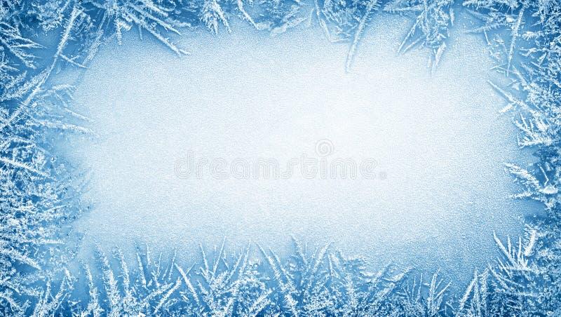 Het kader van de ijsvorst stock fotografie