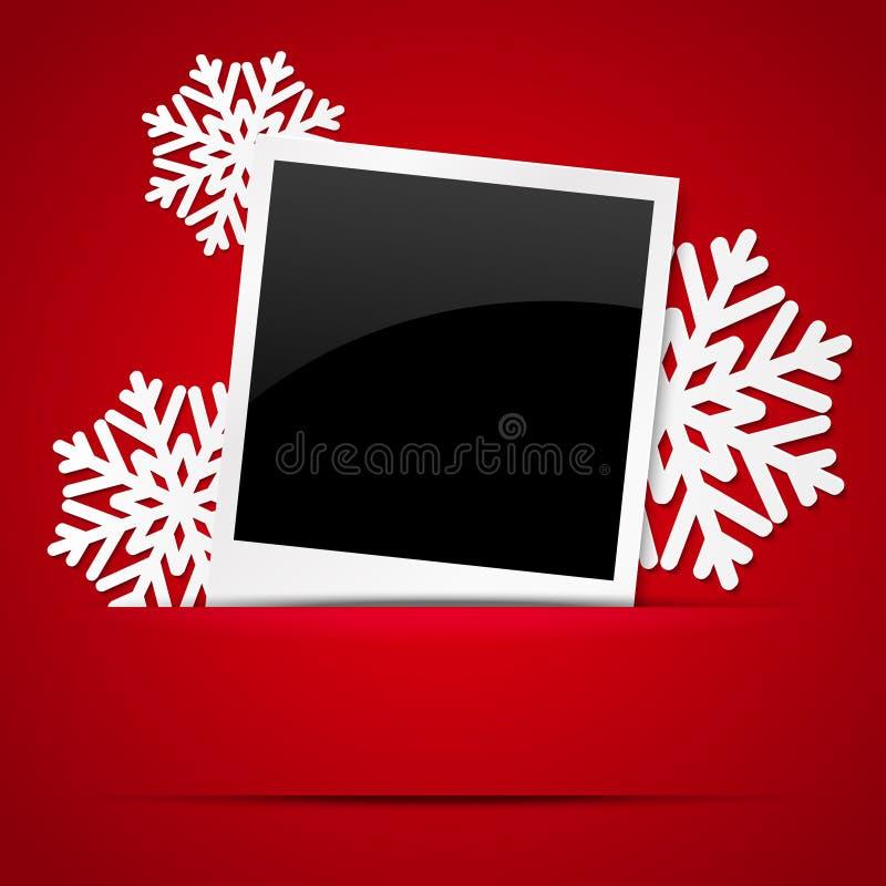Het kader van de Kerstmisfoto royalty-vrije illustratie