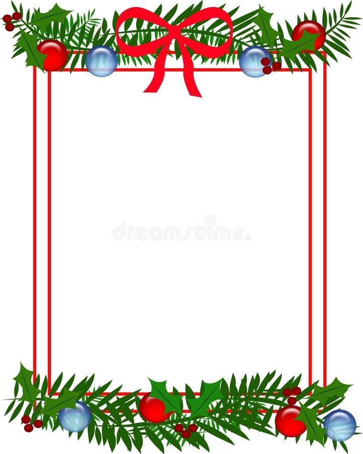 Het kader van de Kerstmishulst vector illustratie