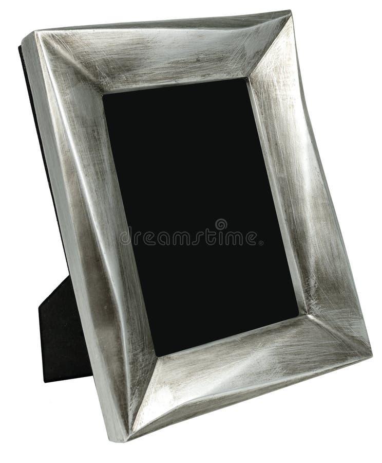 Het kader van de metaalfoto met krassen die zich op kabel bevinden royalty-vrije stock foto's
