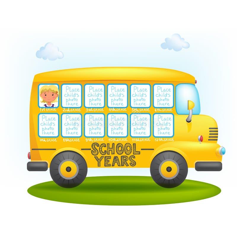 Het kader van de schoolbus royalty-vrije illustratie