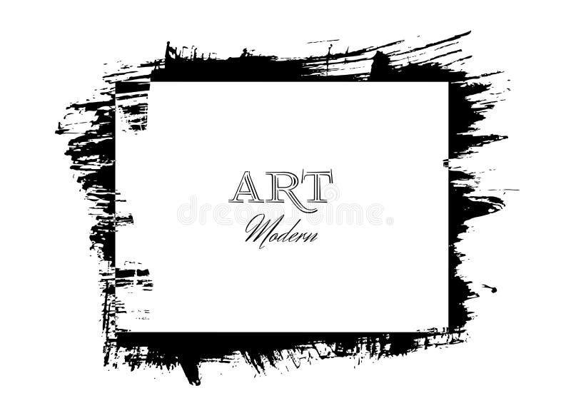 Het kader van de de slagenkunst van de inktborstel stock illustratie