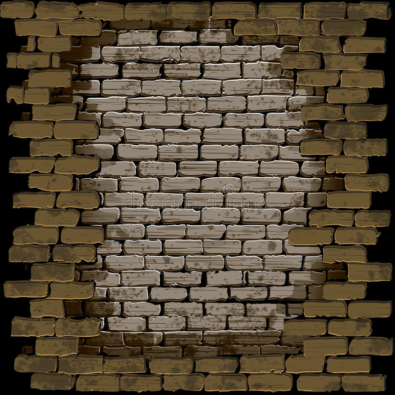 Het kader van de steenbakstenen muur vector illustratie