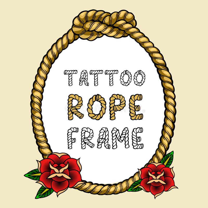 Het Kader van de tatoegeringskabel vector illustratie