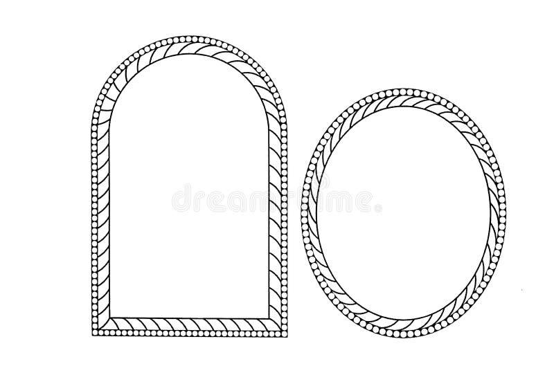 Het kader van de tienerrotatie 2 stukken stock afbeelding
