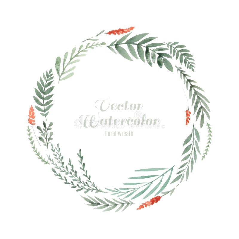 Het kader van de waterverfbloem vector illustratie