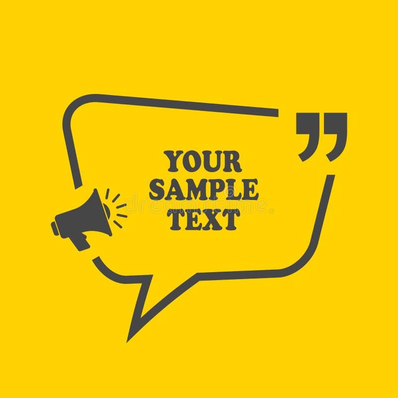 Het kader van het tekstcitaat stock illustratie