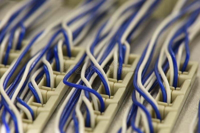 Het kaderkabinet van de telecommunicatie-uitrustings hoofddistributie stock foto